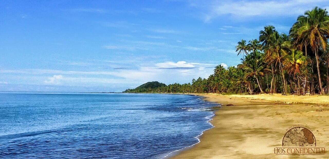 Morillo Beach shoreline in Panama