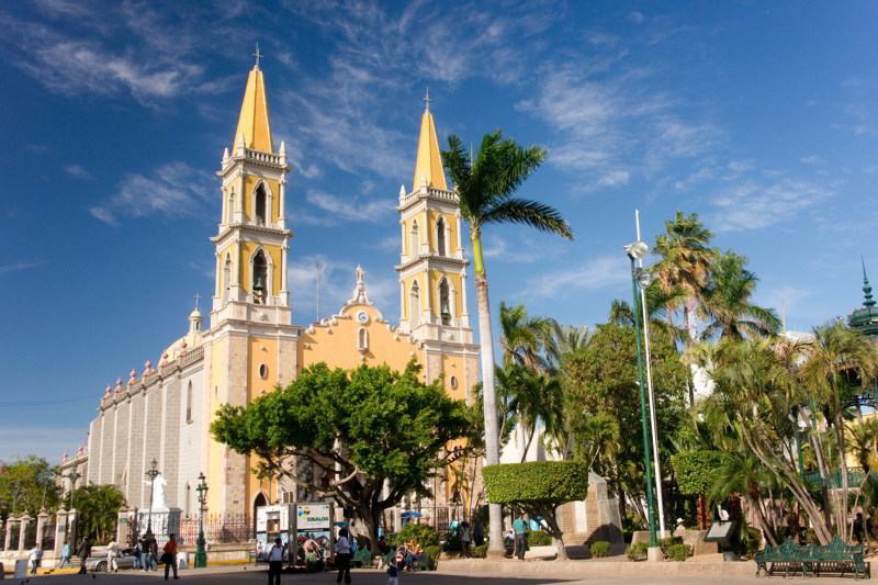 Mazatlan's cathedral, Mexico.