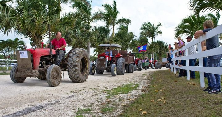 tractor parade in belize