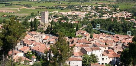 saint chinian aerial photo
