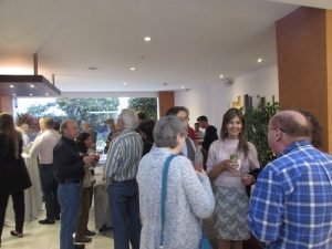 Ecuador conference attendees enjoying refreshements