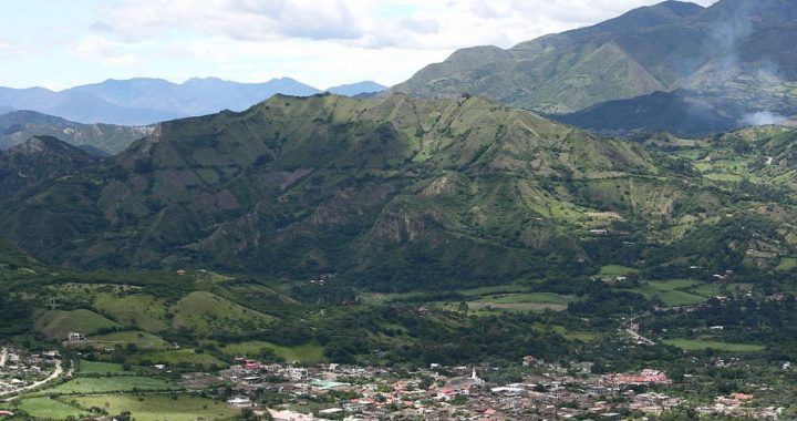 view across the valle of vilcabamba ecuador