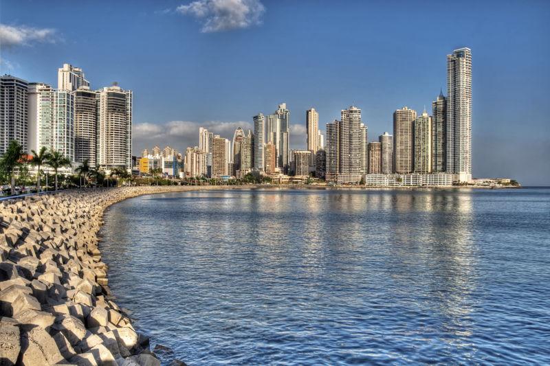 View across Panama Bay, in Panama City