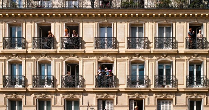Apartment balconies in Paris
