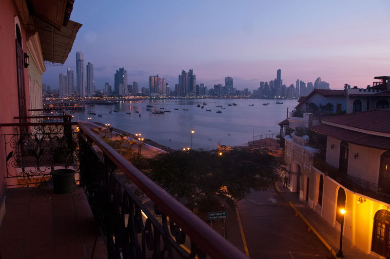 View of Casco Viejo old town in Panama City