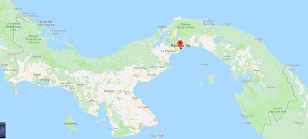 A map of panama highlighting Panama City