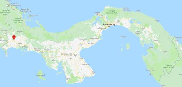 Google map of Panama showing La Concepcion