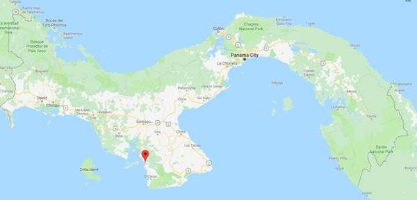 Google map showing Torio, Panama