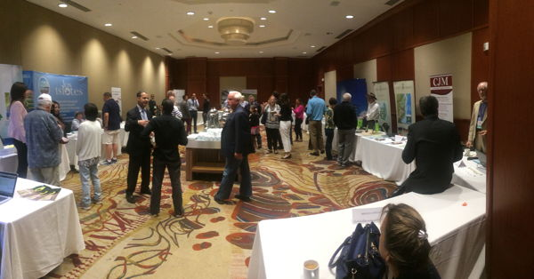 Conference attendees enjoy some refreshments