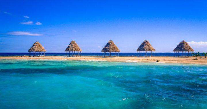 A caye in Belize. Beautiful Caribbean waters