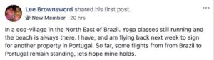 update on life in brazil