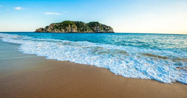 quiet beach in mexico