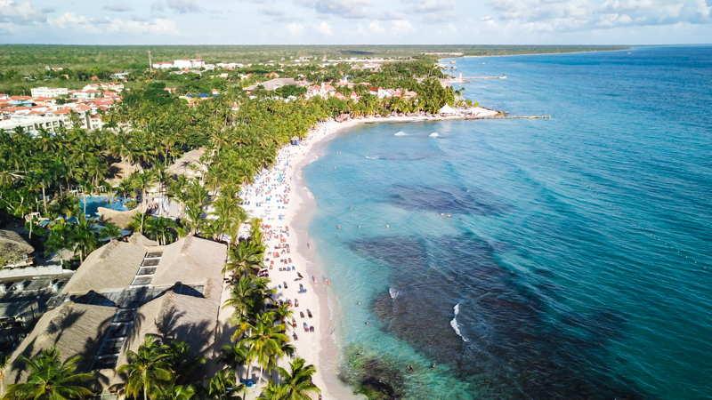 tulum mexico view of the coastline