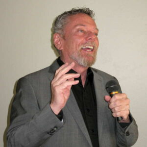 lee harrison at a conference