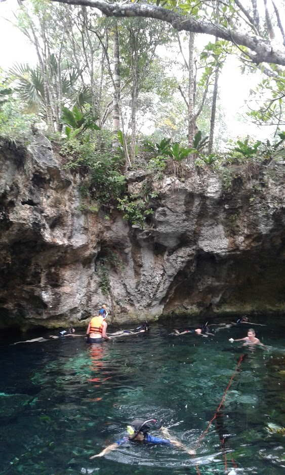 a cenote in mexico for swimming