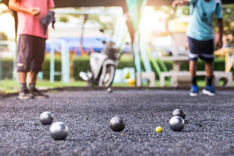 petanque game in france