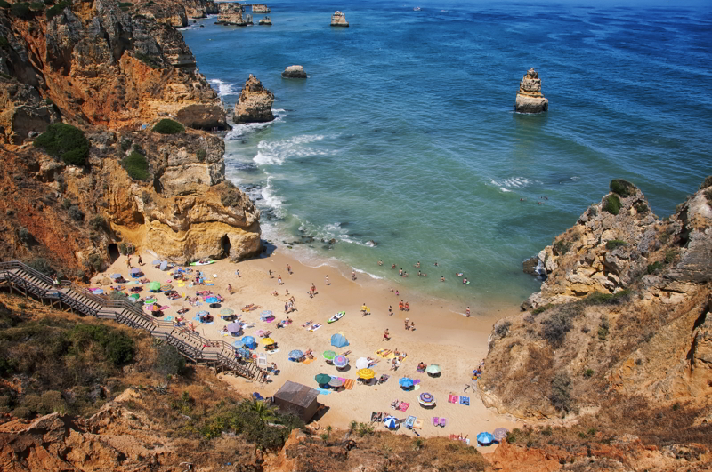Camilo Beach in Lagos, Algrave, Portugal