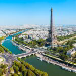 Tour Eiffel aerial view, Paris, France.