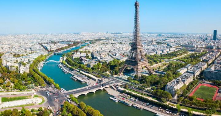 Tour Eiffel aerial view, Paris, France.