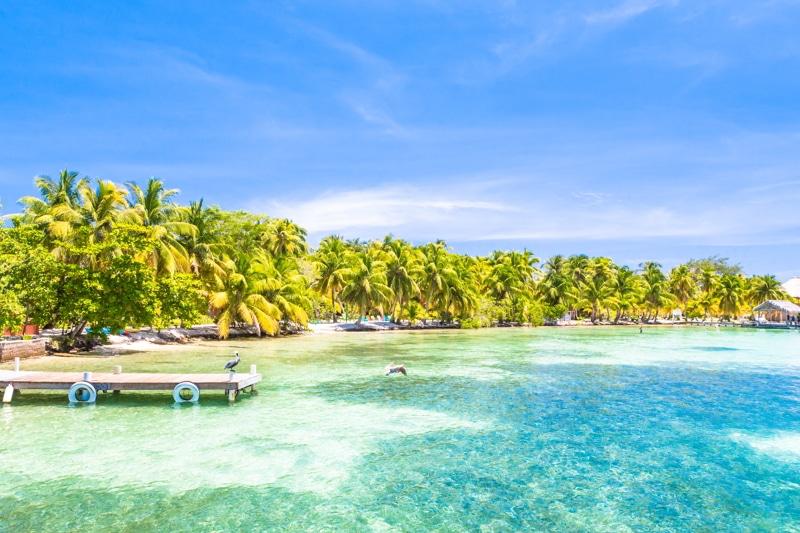 A beach in Belize.
