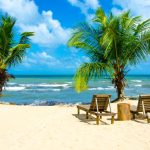 White beach on beautiful Belize.