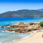 Beach at Penisola near Sagone, Corsica, France.