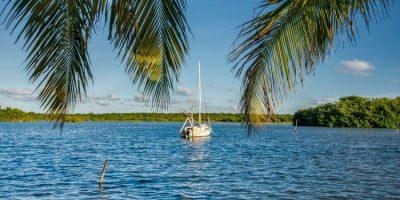 A boat at Copper Bank, Corozal District, Belize