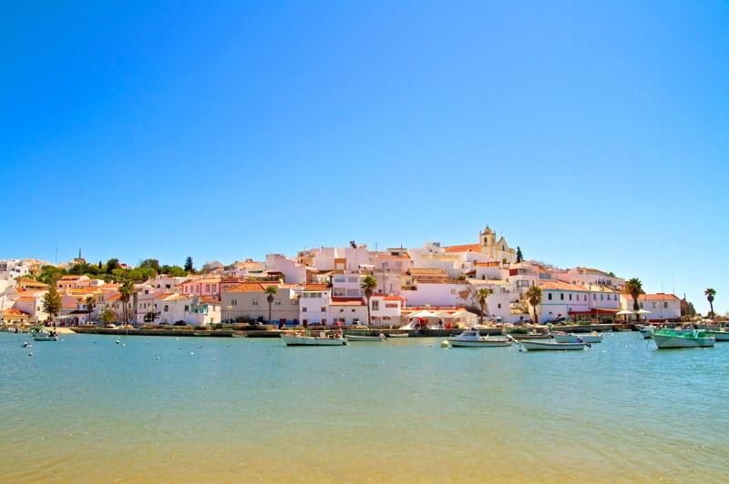 The village Ferragudo in the Algarve Portugal.