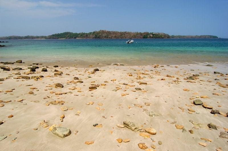 Rocky beach in Contadora island shore, Las Perlas Archipelago, Panama
