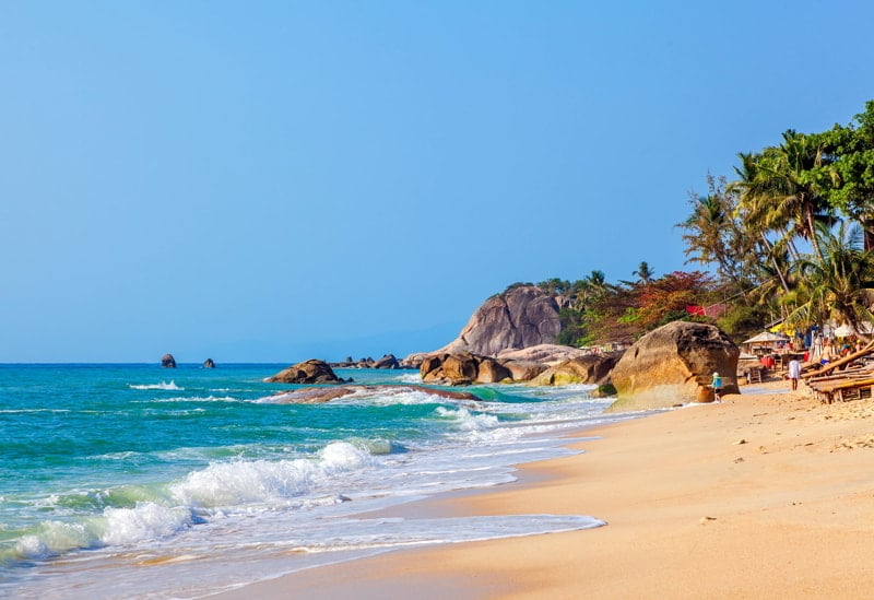 Morning on Lamai beach, Koh Samui, Thailand.