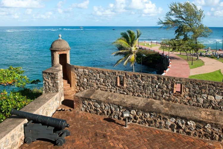 Fortress of San Felipe on a beautiful sunny day in Puerto Plata, DR