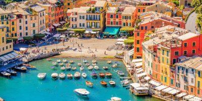 Portofino, an Italian fishing village.