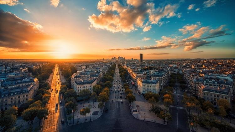 Champs-Elysees in Paris.